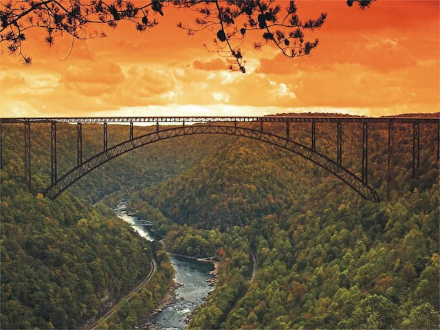 New River Gorge monthly-Walk/bike to town & trails