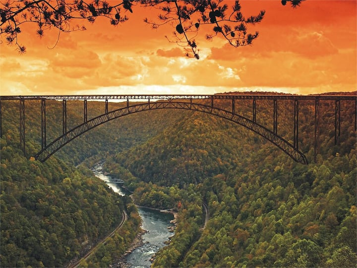 New River Gorge cottage-Walk/bike to town & trails