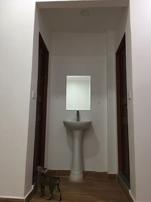 Separate shared shower/toilet for 1st F 2 bedrooms