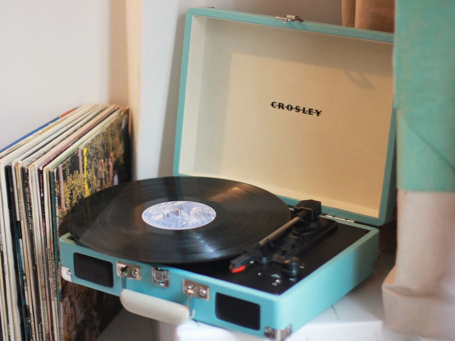 There is a Crosley record player and loads of scratchy vinyl in the cottage