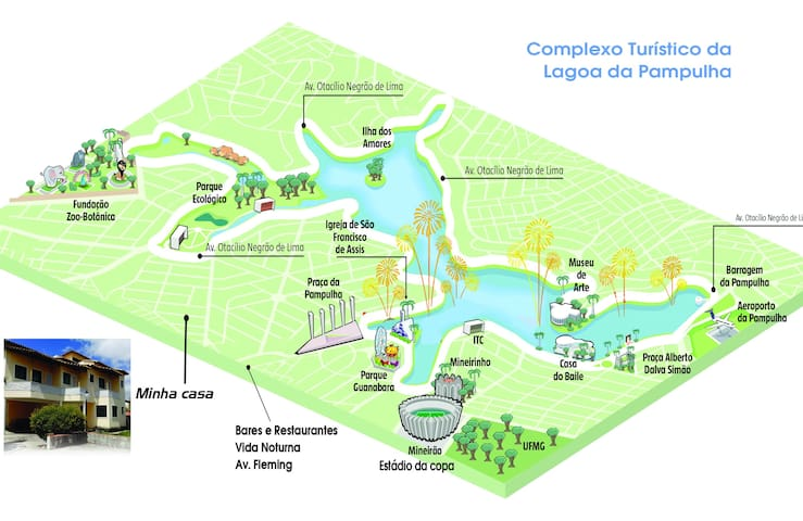 Suite 5: Privativo na Pampulha / UFMG / Mineirão