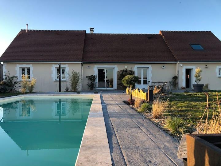 Maison Piscine Coeur des châteaux & ZOO de Beauval