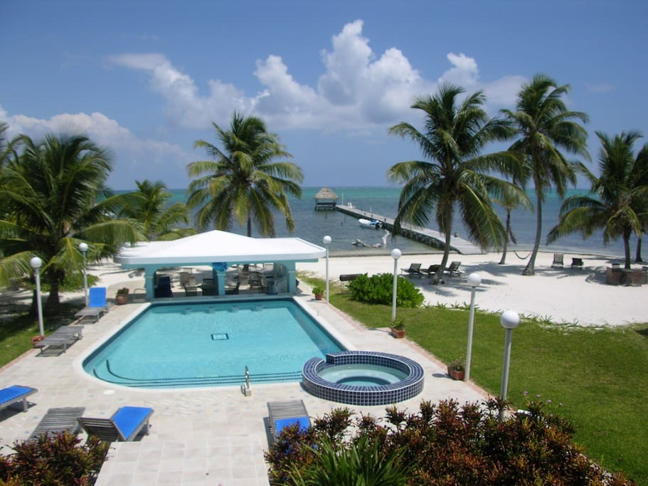 Pool and ocean view from your second floor balcony!