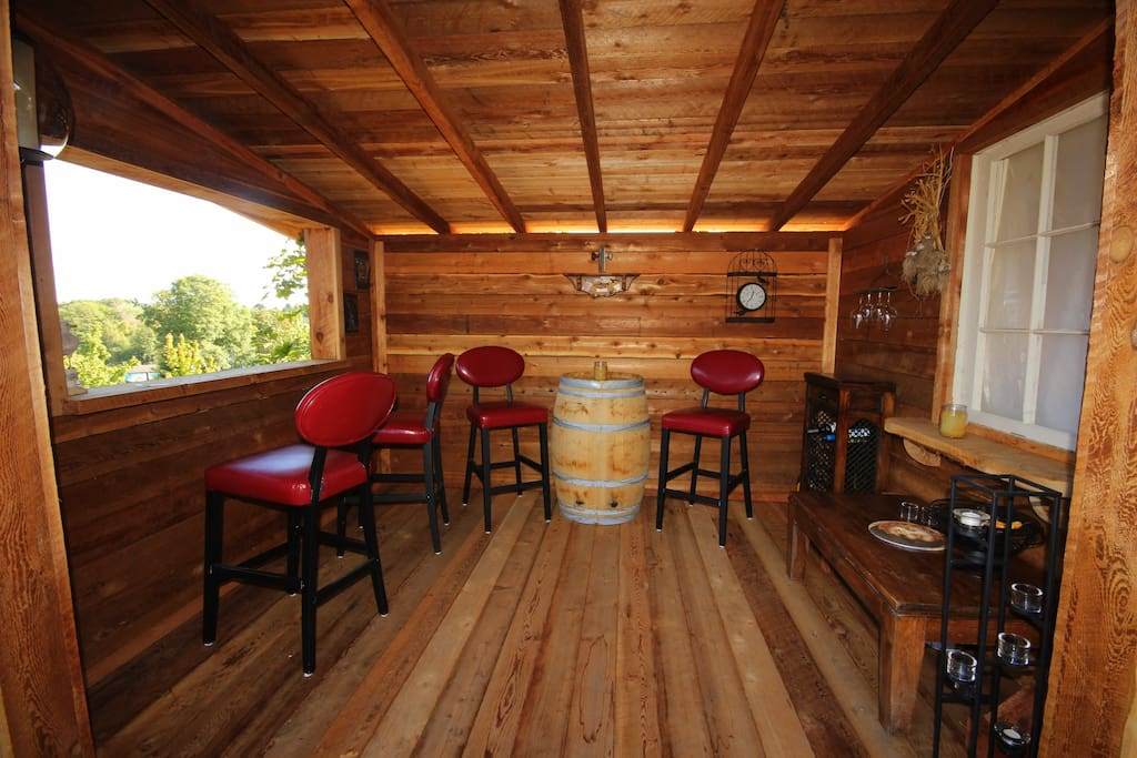 """The """"Shed"""" and wine bar"""