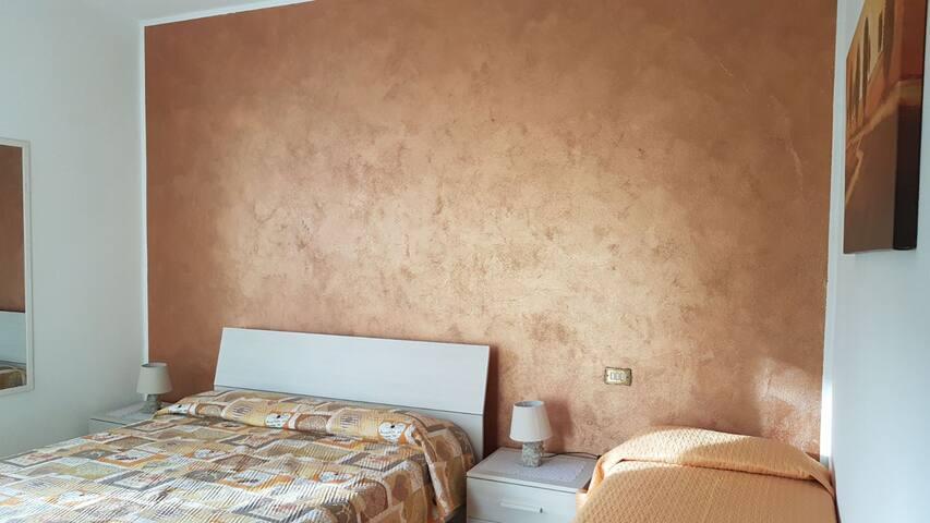 Bronze bedroom upstairs