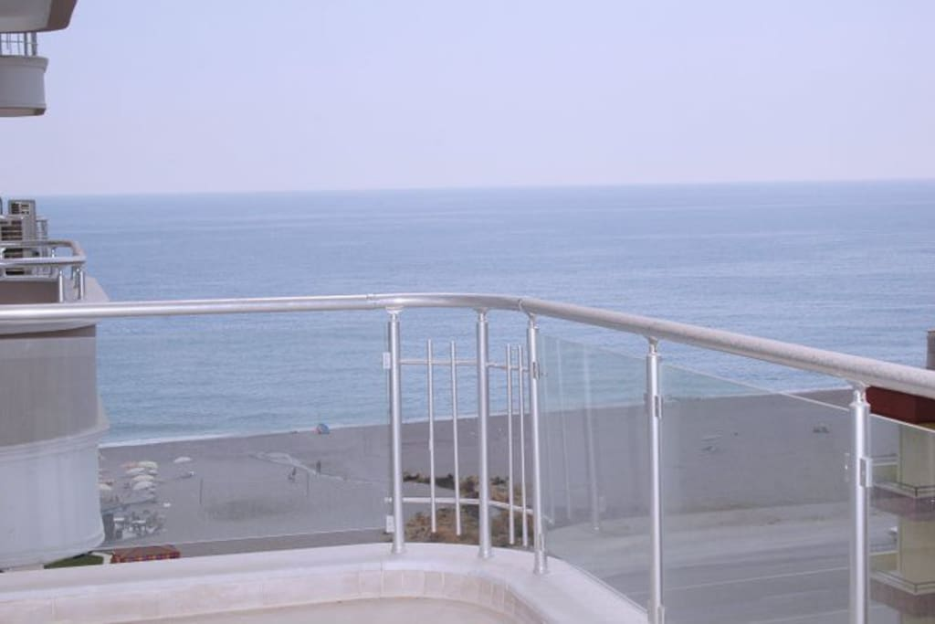 The sea view from the large balcony