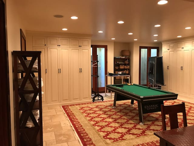 Two murphy beds are shown here
