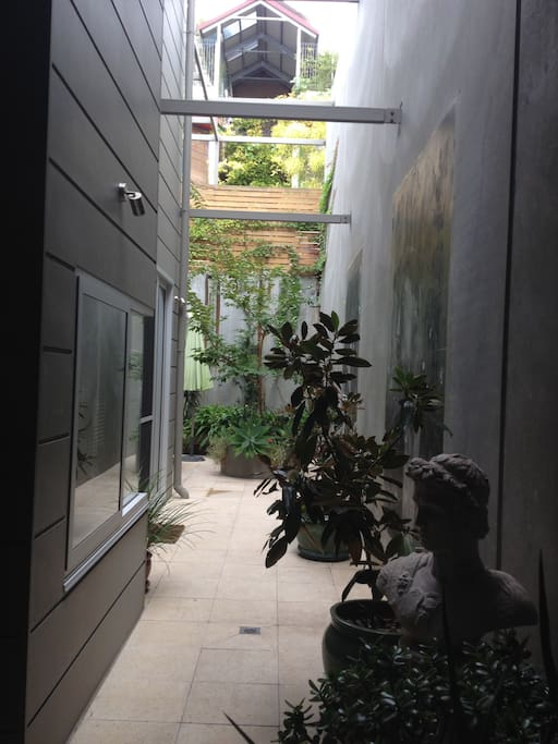 Discover amazing spaces in courtyards, accessed from your bedroom