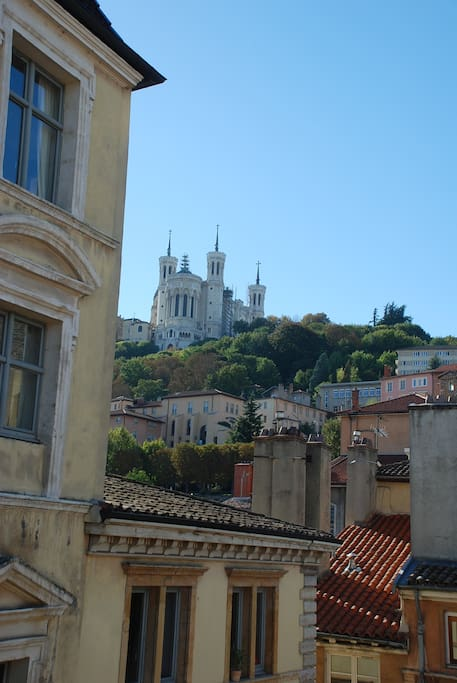 View on Fourviere's Cathedral, from living and bedroom