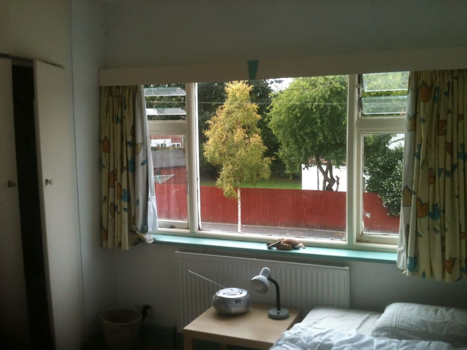 Bedroom has blackout curtains,double bed,tea 'n'coffee facility,radio .