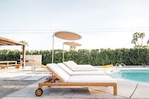 Lounge by the pool on the 6 comfortable chaise loungers.