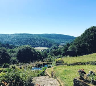 Room with a view at Hill Farm, Tintern