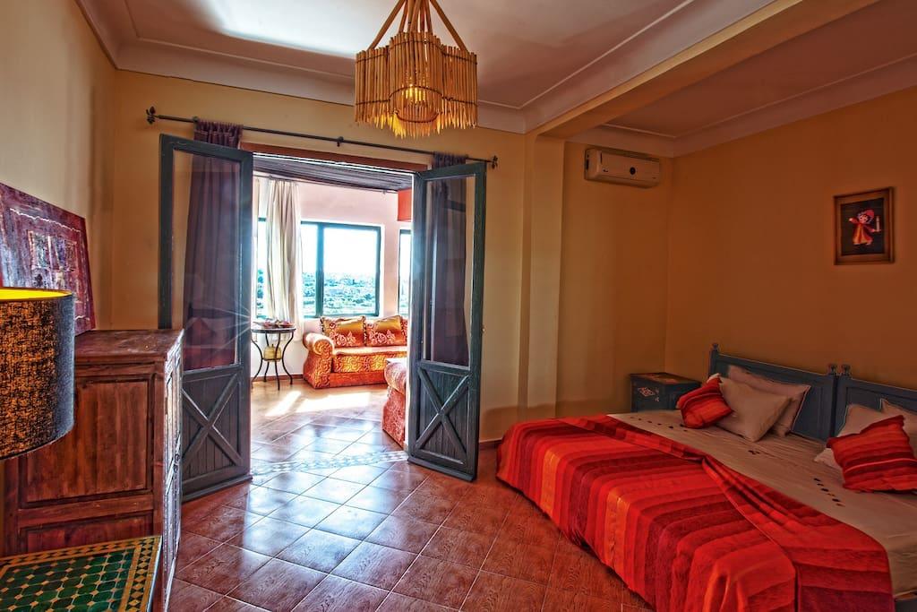 Suite royale chambres d 39 h tes louer marrakech for Airbnb marrakech