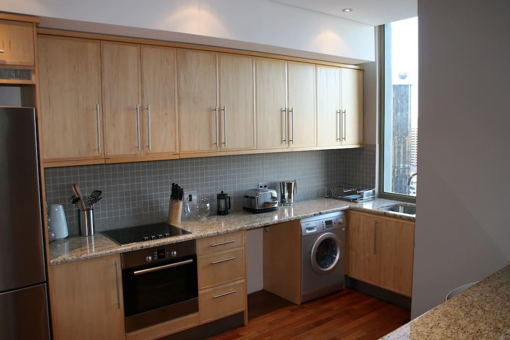 Kitchen with view of Adderley Street