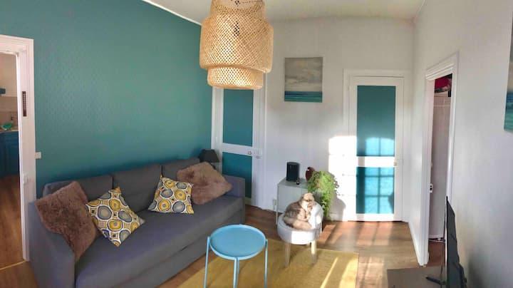 Appartement spacieux Hypercentre à 400m de la mer