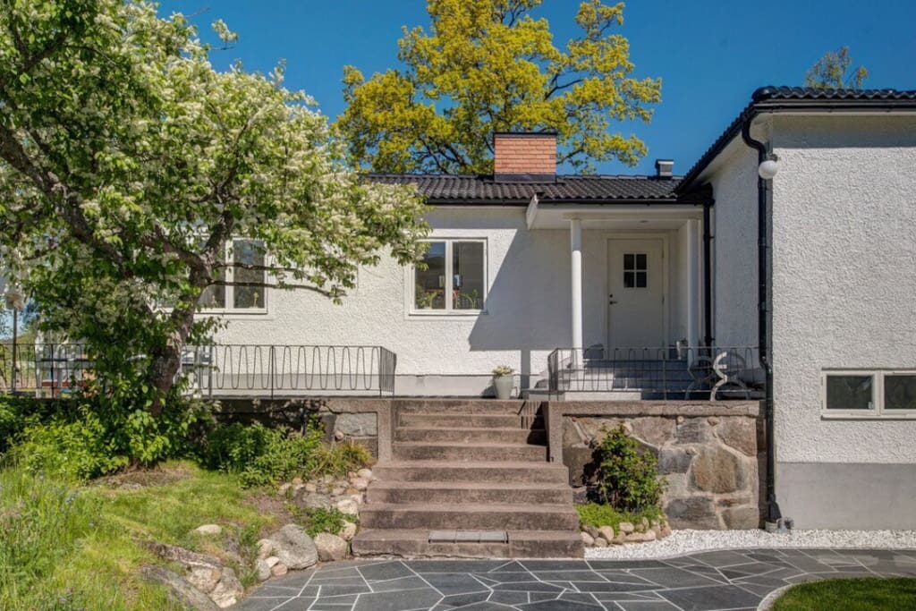 Built 1946 in classic Swedish functionalist design. Newly renovated inside.