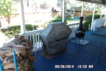 Front Deck with BBQ Grill and Chiminea