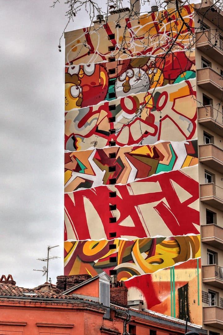Le graffiti d'hier et d'aujourd'hui.