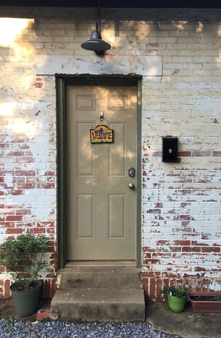 Your private entrance is an exterior door with Welcome sign. With your own entry, you can park outside and come and go as you please!
