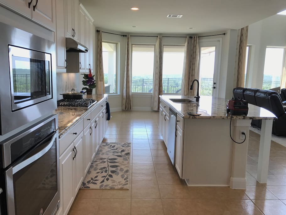 Fully stocked Kitchen overlooking great views