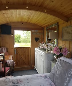Luxury Shepherd's Hut at Ty Coch Campsite Cardiff