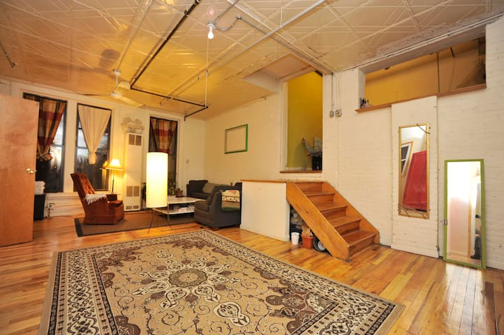 Guest Room in Authentic Williamsburg Factory Loft
