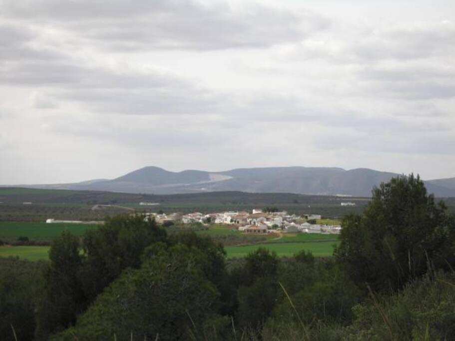 Vista de Los Carvajales, desde la sierra La Camorra.