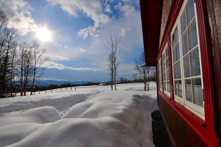 Stor hytte med fantastisk utsikt
