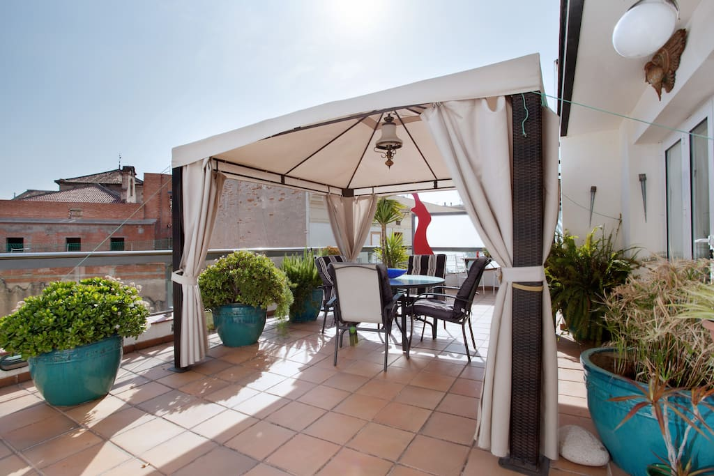superb terrace penthouse in Rambles