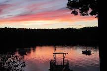 Summer sunset.