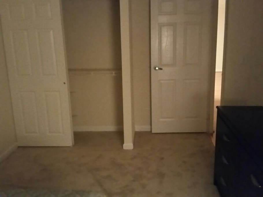 The other half of the bedroom for rent.  actually room for the queen size air mattress here.