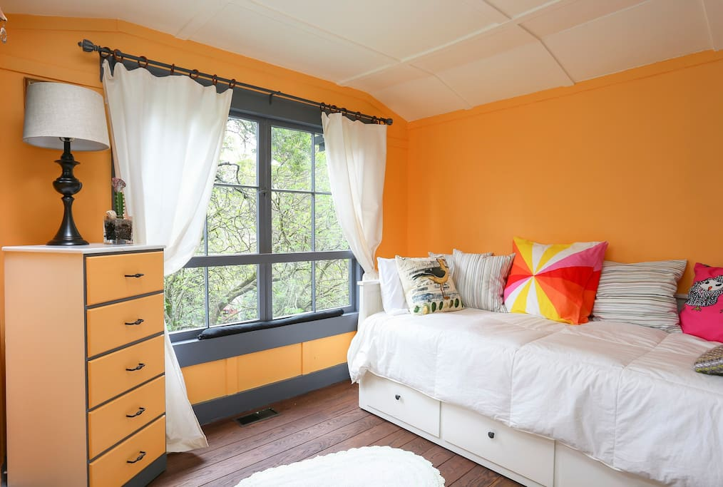 This is the fun room great for children teens and adults daybed opens to queen size bed