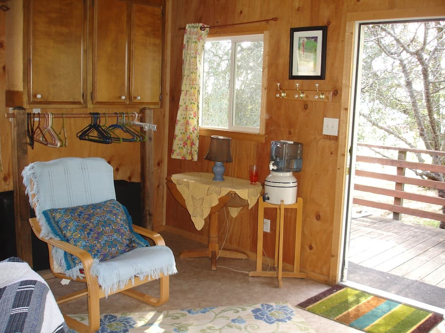 View of outside from inside cabin