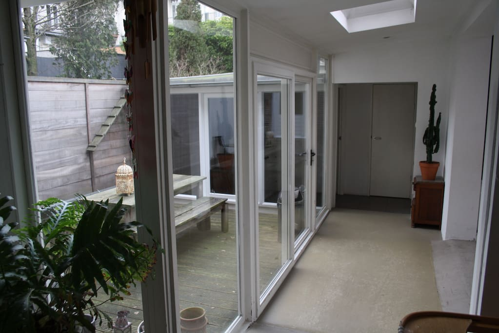 The house has got two patio's which allows outside dining in summer