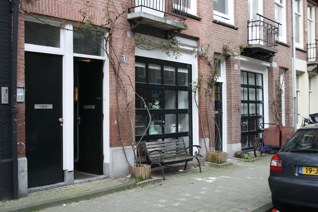Classical Dutch style with garage doors still intact