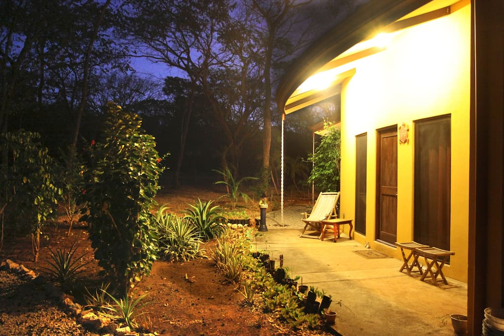 entrance by night during dry season in April