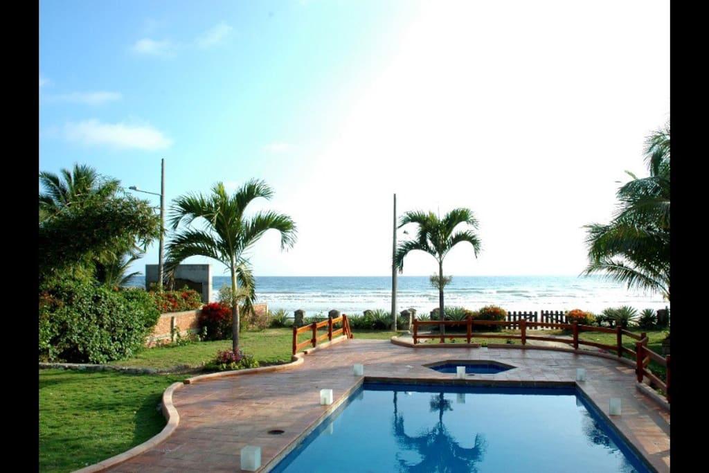 Pool & outdoor hot tub