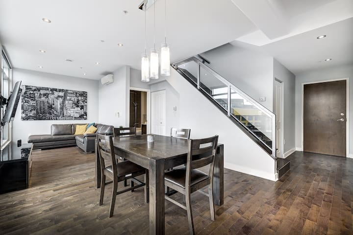Two floor penthouse condo with double balcony
