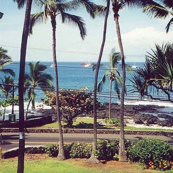 Pic of ocean from grassy area just outside your back lanai!