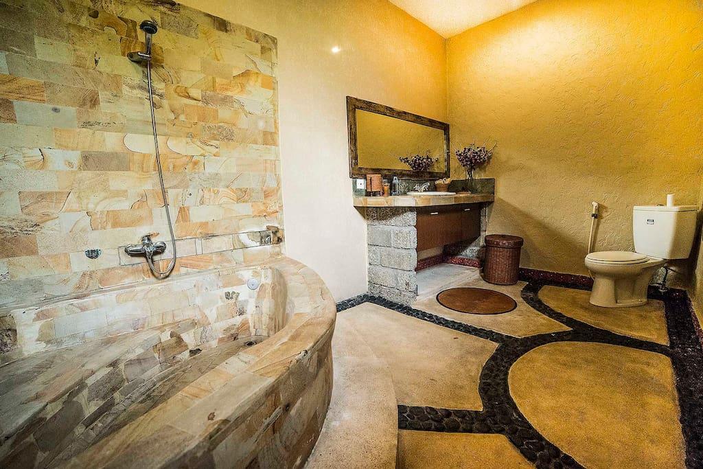 bathroom (in each bedroom)