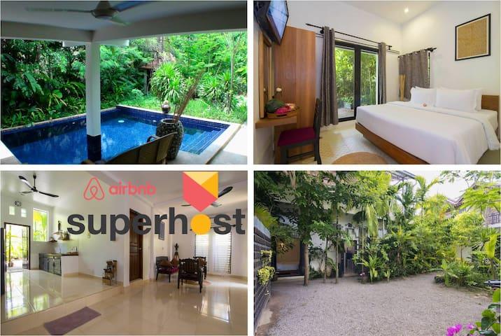 Enkosa 3-Double Bedroom Modern Villa + Pool access