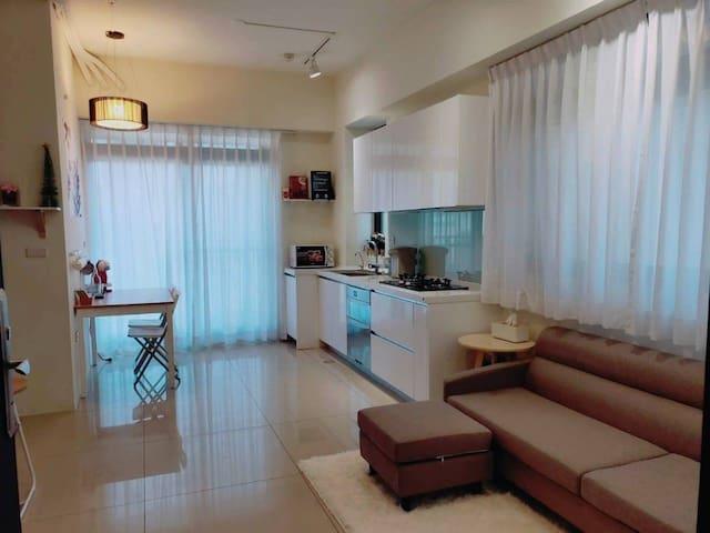 新竹東區園區全新裝潢北歐風獨立套房