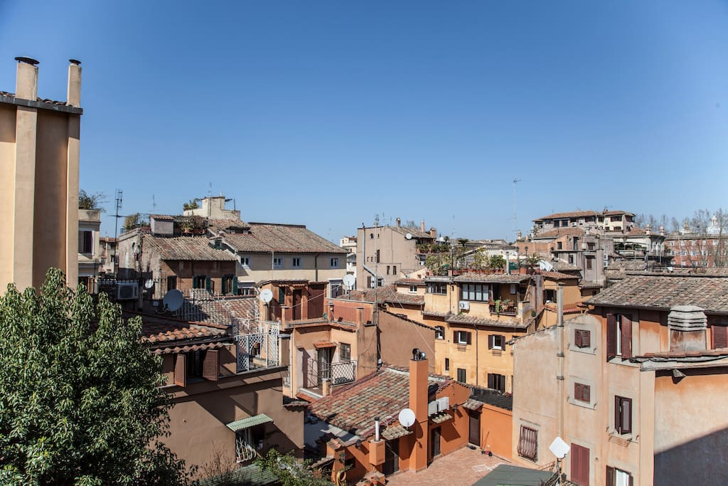 Trastevere lovely terrace apartment apartments for rent for Airbnb roma