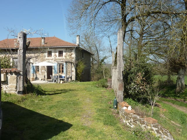 Charming farmhouse in a big garden - Chassenon - Apartamento