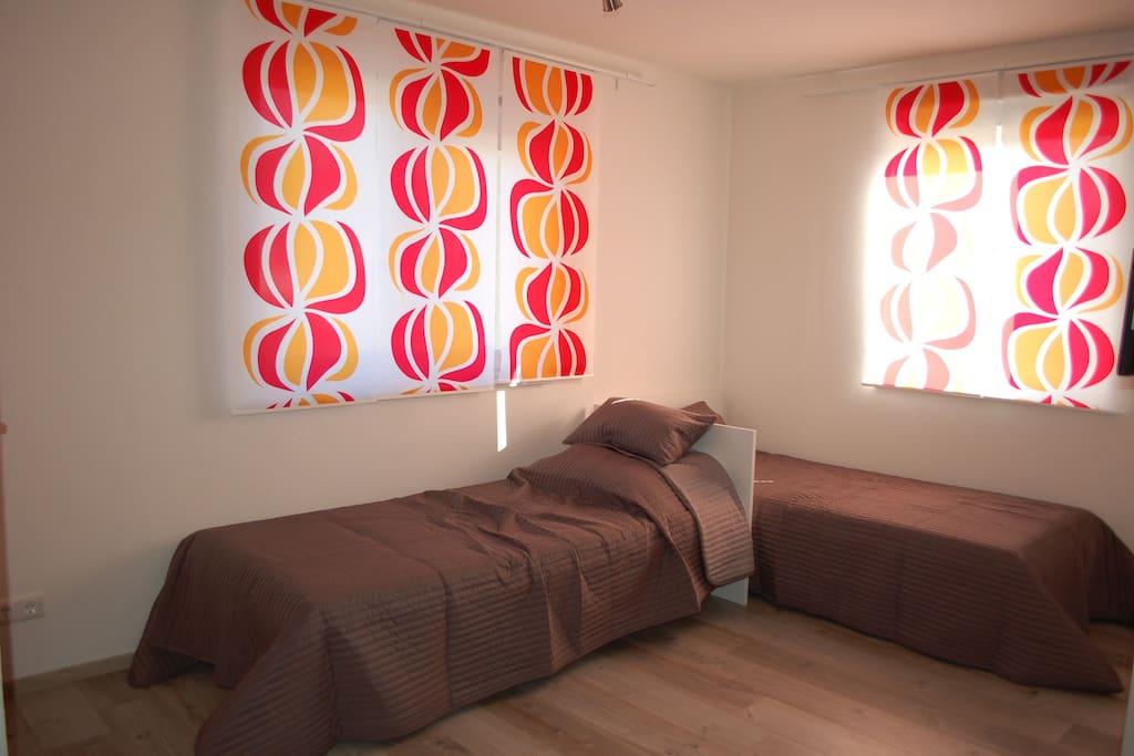 Betten können einzeln oder als Doppelbett gestellt werden