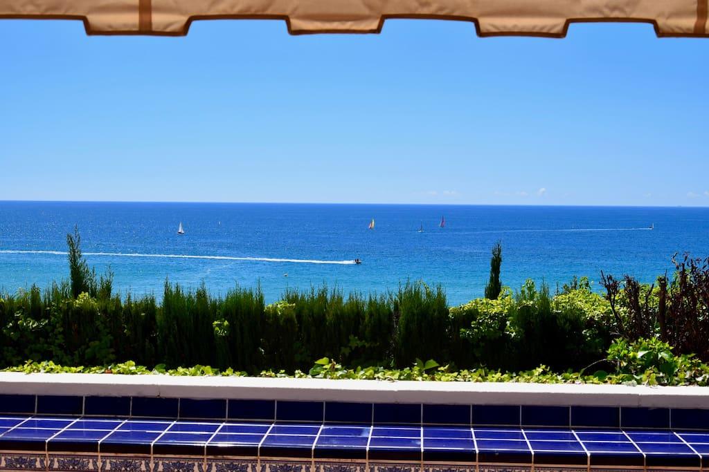 Vista desde la terraza de la Playa Larga