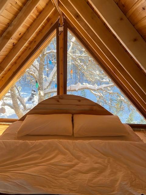 Doğayla iç içe, Amerikan Tarzı Ağaç Bungalov Evler