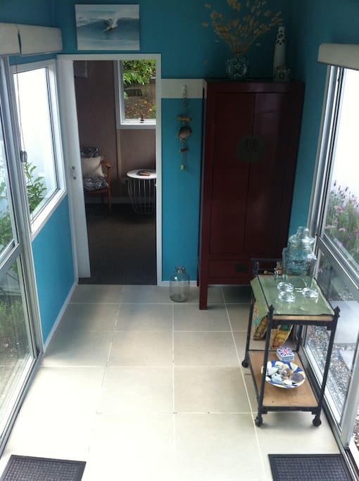 Entrance to double room from the breezeway