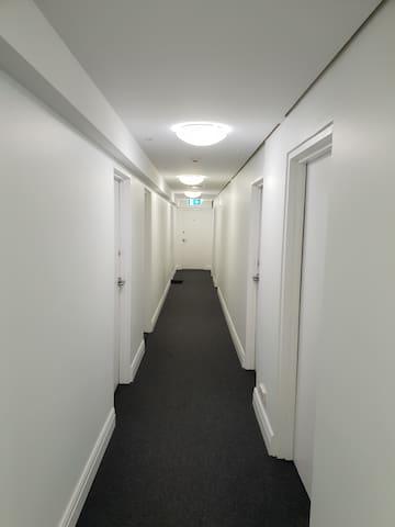 Hallway to the studio