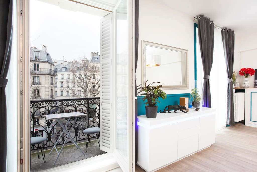 Balcony with a view on parisian & hausmannian buildings